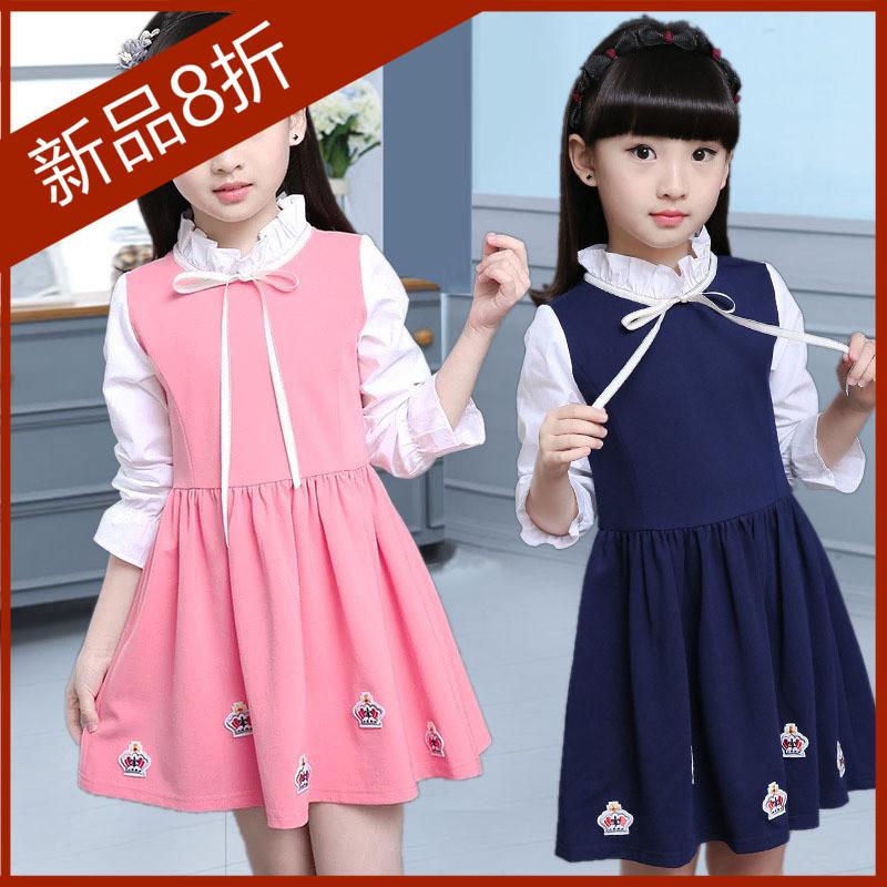 女童秋冬公主连衣裙大童女装6六7八8十10岁学生女孩裙加绒12-15岁
