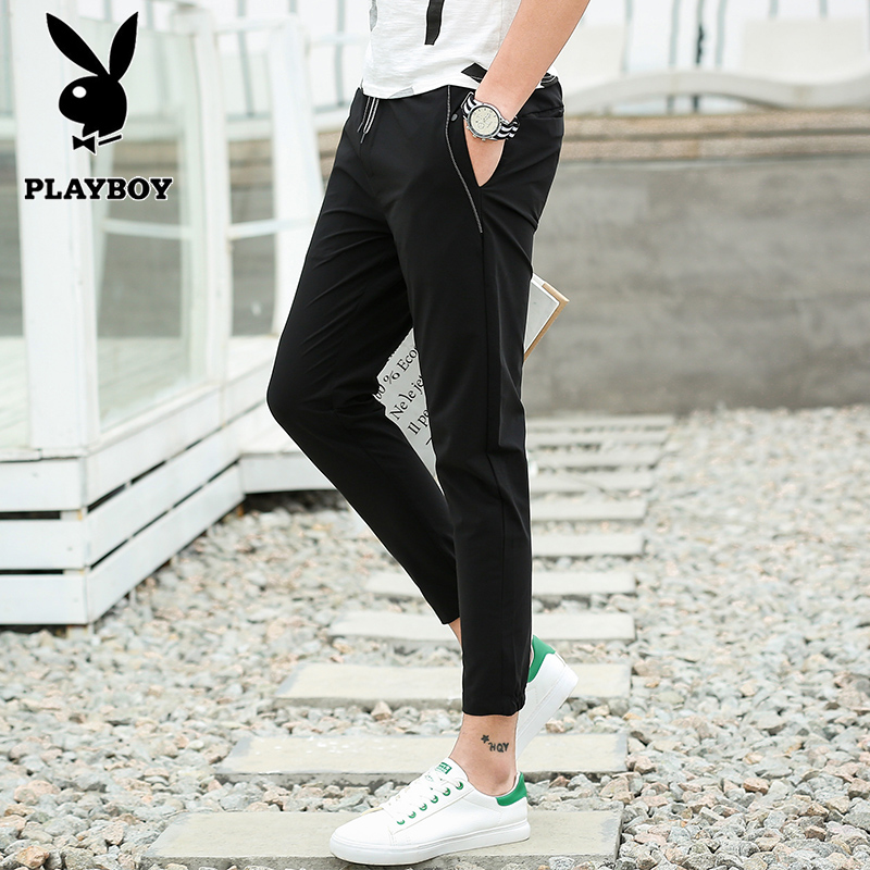 Playboy counter, genuine brand, flagship store, 2017 picture men, nine point pants, summer pants, trend students