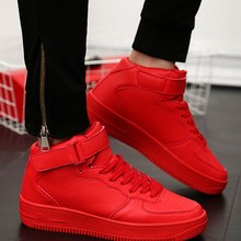The fall of the new Korean men high shoes shoes red tide male sports casual shoes GZ shoes breathable