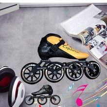 The global purchase Hj new carbon fiber racing speed skating shoes shoes professional adult children skates roller skating roller