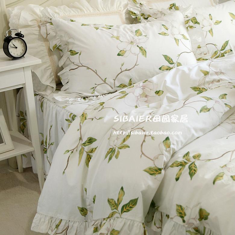 田园风格**艾琳田园风清新款全棉床上用品纯棉四件套