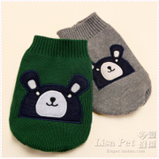 New cute bear pet sweater dog clothes VIP Teddy than the panda pet clothes autumn and winter clothes