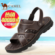 Camel/ camel sandals 2017 summer new leather sandals sandals shoes soled casual