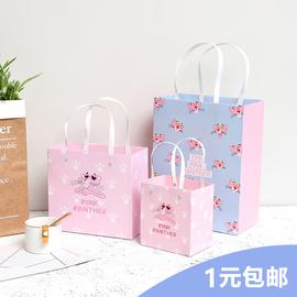 礼品袋手提袋韩版文艺小清新生日伴手礼物糖果包装盒简约纸袋定做