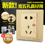 3D 86 - inch wall socket switch socket panel - hole five hole socket two or three pole plug