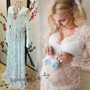 Pregnant women clothing pictures studio portrait photography dress sexy lace dress skirt on eyelashes
