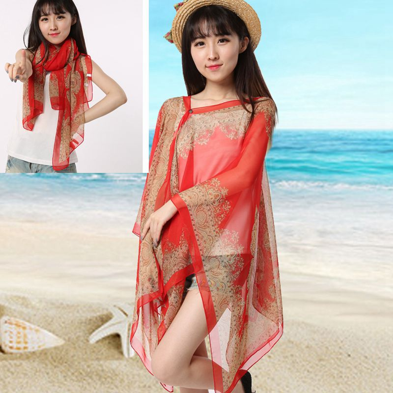 Our beach Pashmina Scarf for summer beach scarf Chiffon Scarf ponchos ms.drive