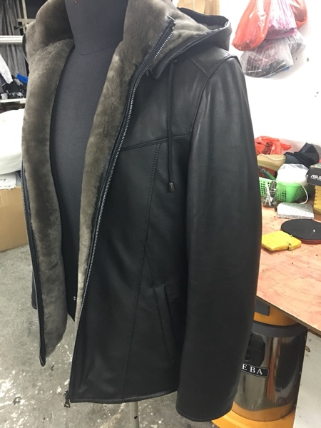 Haining leather fur sheep Pipimau coat, men's leather jacket, brand men's leather coat