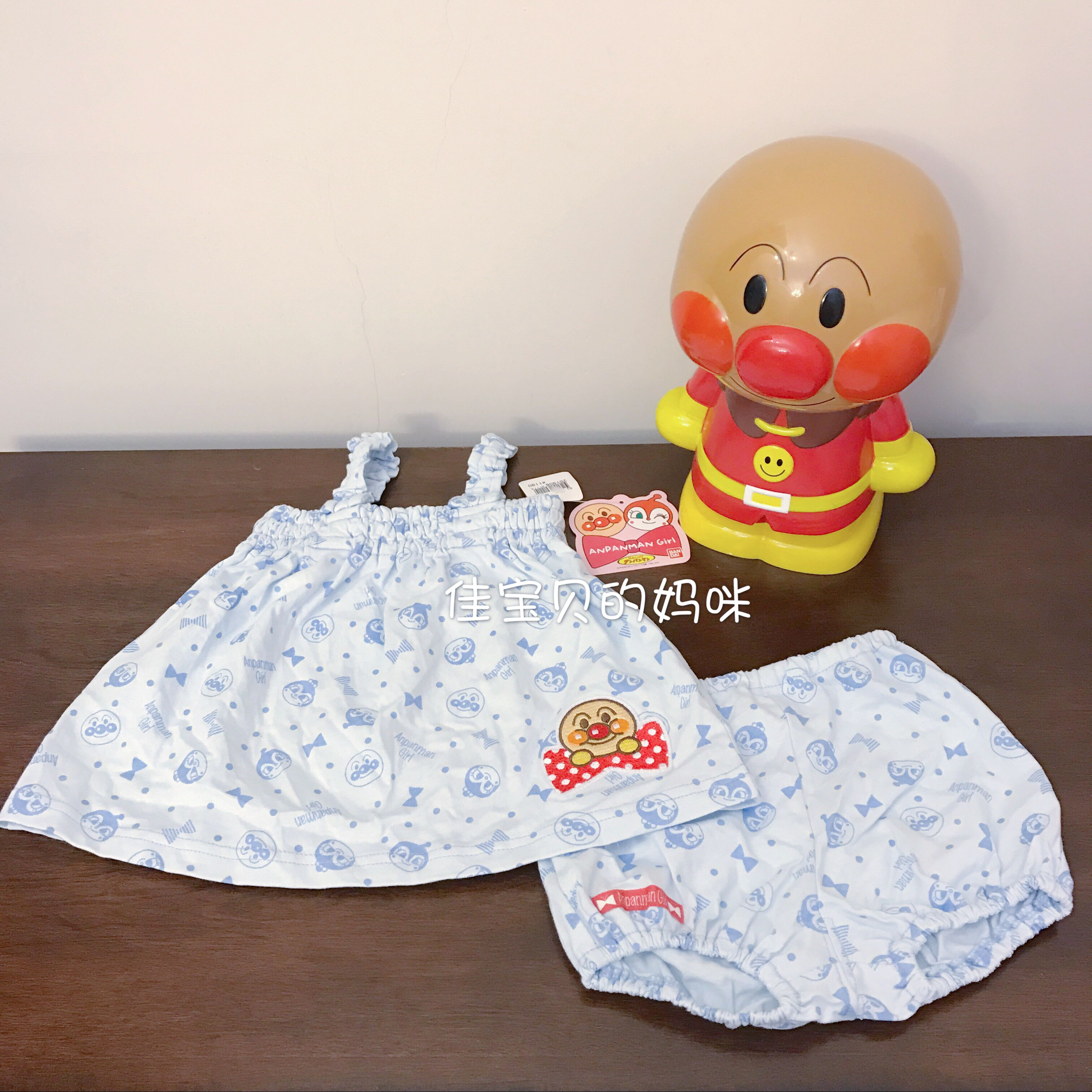 Spot mail, Japan imported bread Superman baby, summer cotton comfortable breathable belt, Kazakhstan clothing set