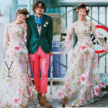 Show the new studio location Japanese personalized wedding trip shoot theme fashion cloth cut dress