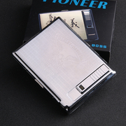 20 stainless steel metal cigarette case automatic elastic cover USB rechargeable electronic cigarette lighter lighter windproof slim
