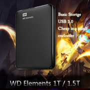 WD western data, new elements, 1t, 1000G, 1500G/1.5t, 2.5 inch USB3.0 mobile hard disk
