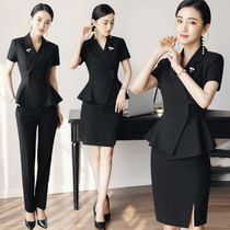 bf54e73275 Ai Shangchen 2018 summer new professional women s suit temperament OL two-piece  short-sleeved