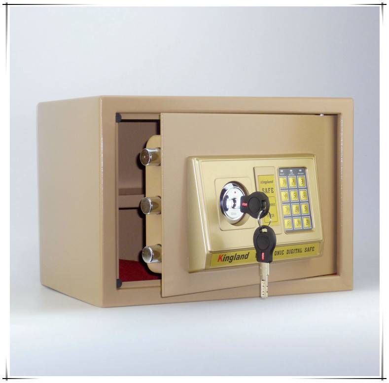 Package 25CM home wall safe, small office safe, electronic password bedside cabinet, double layer A4 special offer