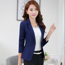Small suits womens blouses short spring and autumn 2016 new Korean version of the professional fashion slim slimming plus size long sleeve suit
