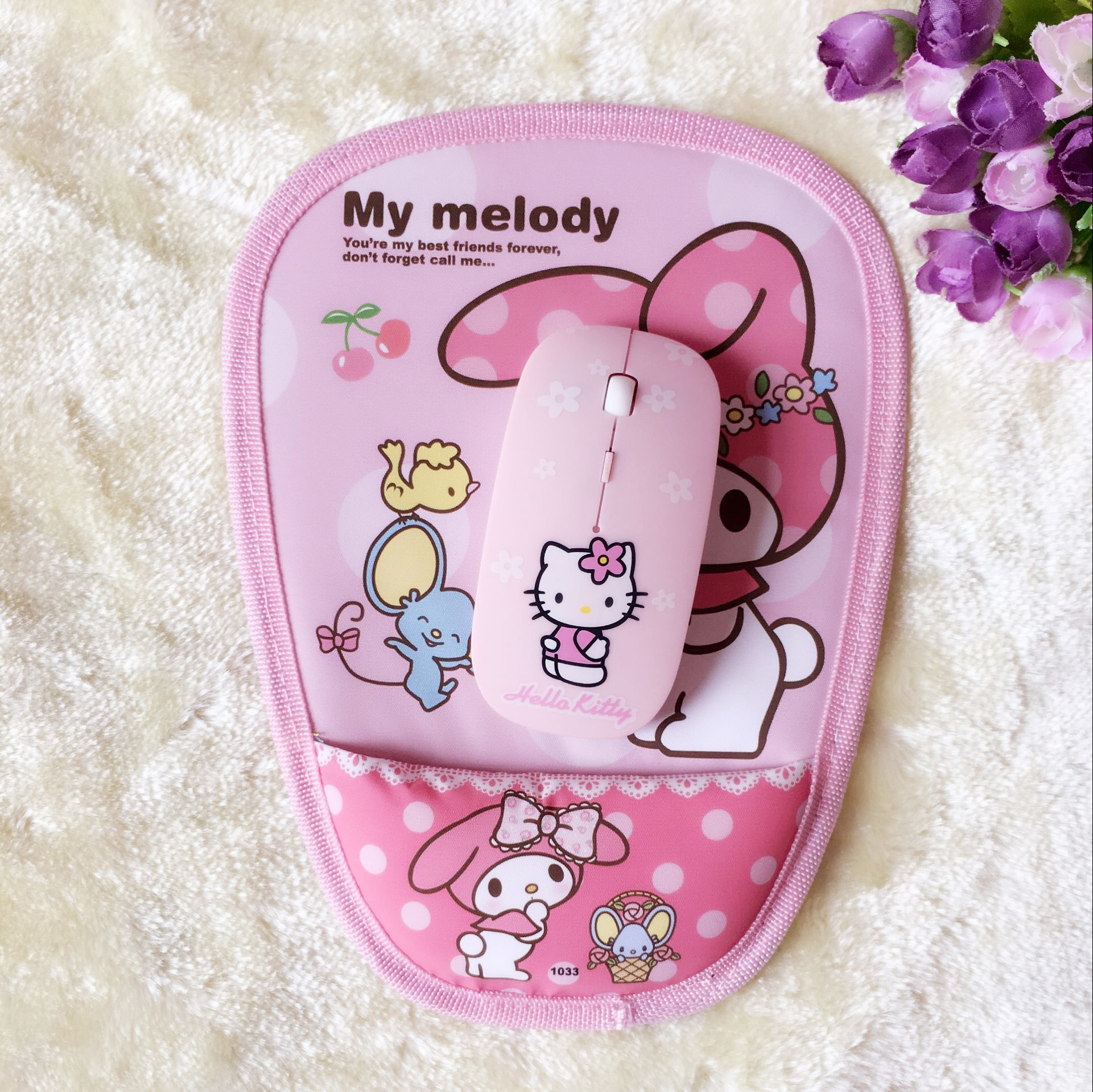 8cab5193e Merlot Kitty Mouse Pad Doraemon Mouse Pad Hello Kitty Wrist Mouse Pad Pink  Cartoon