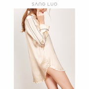 Sang Luo autumn new blockbuster silk clothing Home Furnishing elegant comfortable shirt silk pajamas female