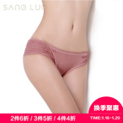 Sang Luo mulberry silk knitted comfortable low waist female triangle underwear panties female