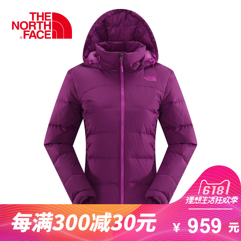 59ff3e5262 THE NORTH FACE Northern women s outdoor lightweight windproof 600 Peng warm  hooded down jacket CUJ6