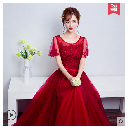 New party dress 2017 summer toast han edition elegant female students take the bride bridesmaid dresses long thin