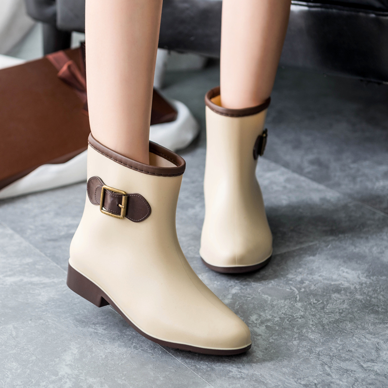 Special offer female boots ladies fashion women's shoes boots tube anti-skid water short tube rubber overshoes adult boots