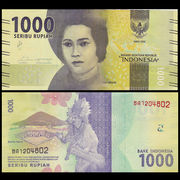 Special new UNC Indonesia 1000 note foreign currency 2016 P-NEW