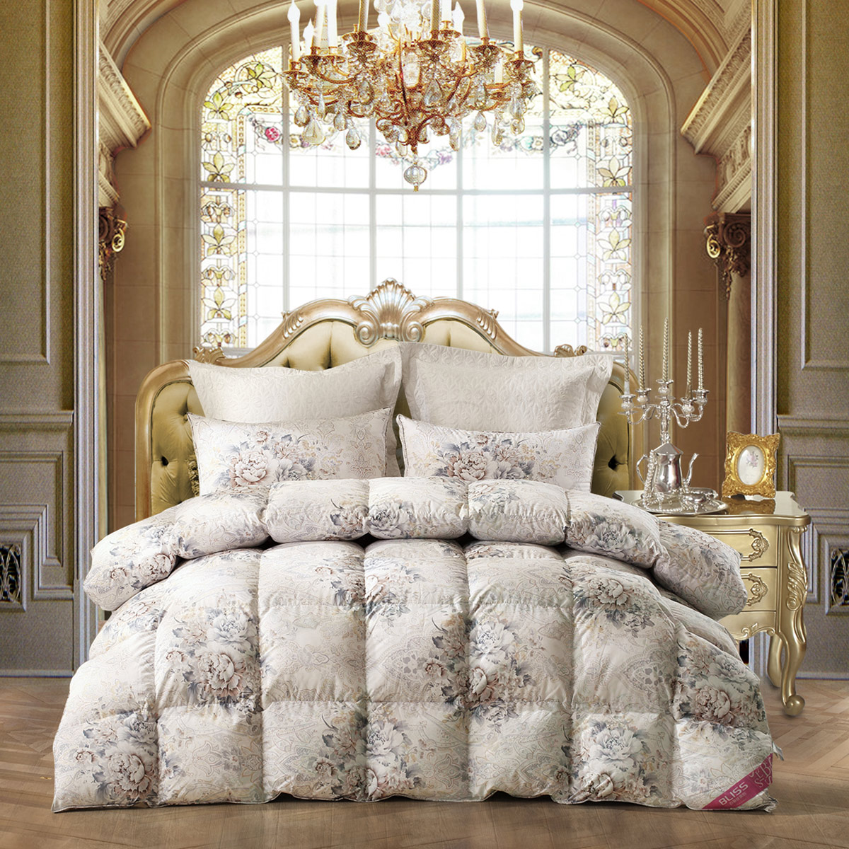 百丽丝家纺 水星出品 艾琳90羽绒被床上用品保暖羽绒被芯