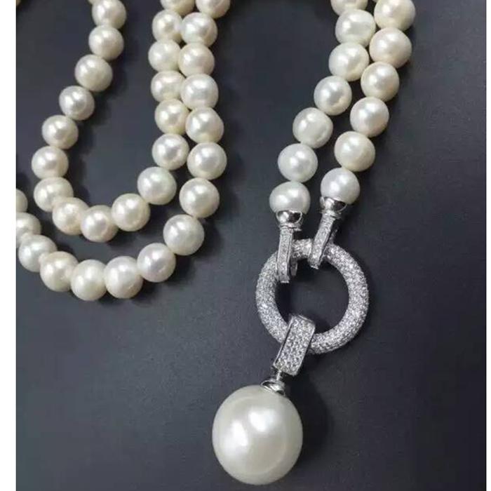 925银扣子 珍珠手链项链扣子 圆环珍珠吊坠花式扣diy喇叭扣吊坠扣