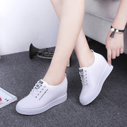 2017 new spring and autumn increased in white lace up shoes shoes sports shoes soled shoes muffin loafer