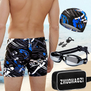 Zhuo Haozi men's swimming trunks swimming cap boxer dry swimming trunks swimming goggles XL spa swimming suit