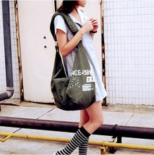 The amount of leisure bags post Korean women summer school style single shoulder bag student large canvas bag