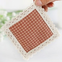 Creative continental fabric laces pure cotton woven square insulation pads coffee cushion mat