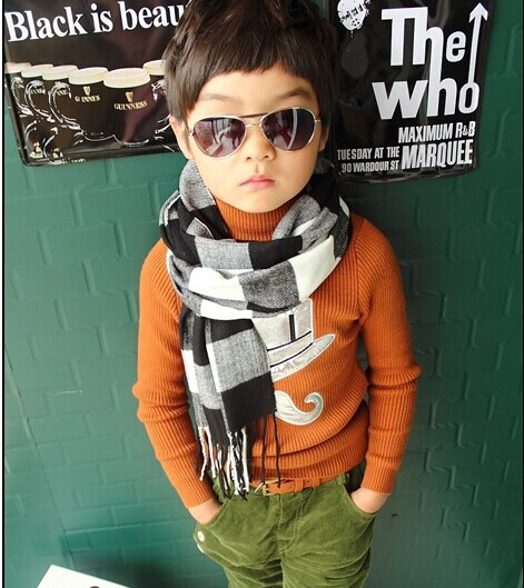 2015 classic children / boy / girl / man / lady / autumn / winter cashmere Plaid Scarf