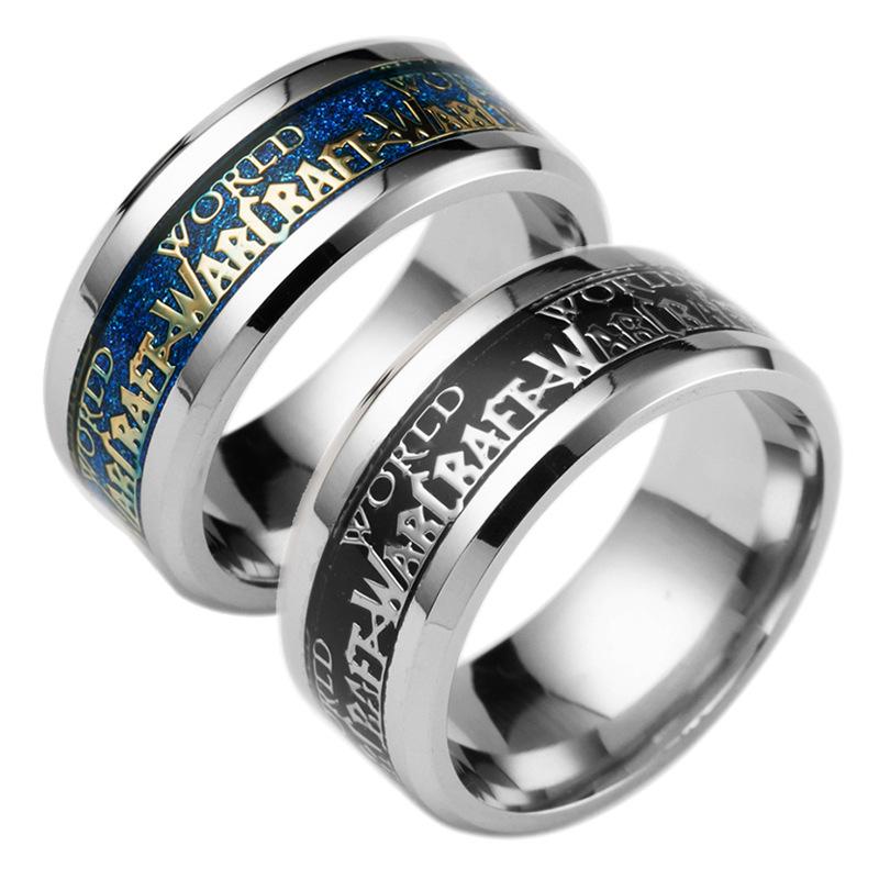 魔兽世界周边不锈钢戒指 World of Warcraft游戏电影周边纪念礼品