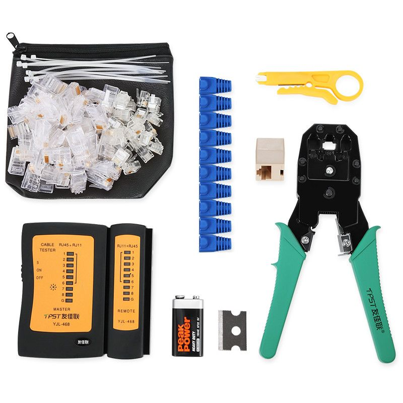 Network press clamp kit set, broadband network wiring installation kit