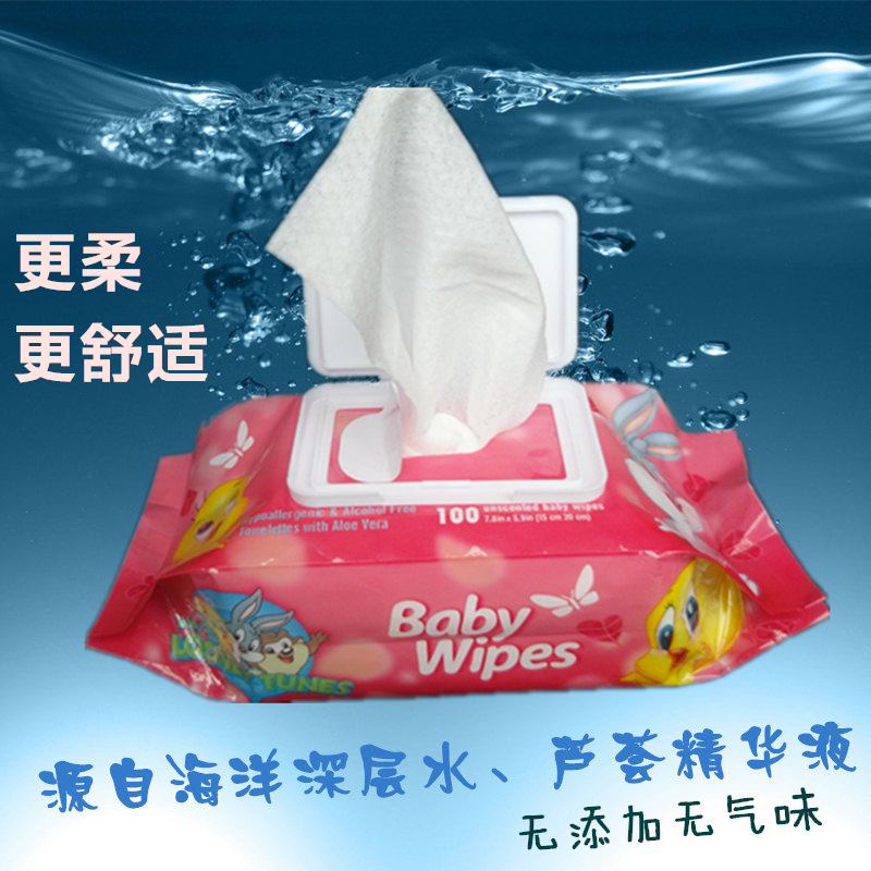 Baby wipes, 100 take cover, baby new born children, cleaning wet wipes, baby products factory direct wholesale