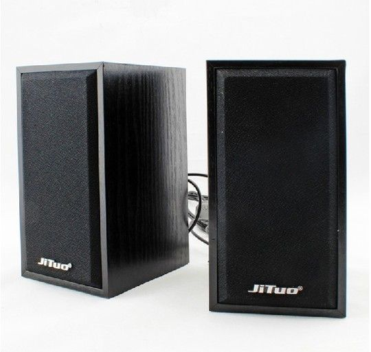 Hot jt2801, wooden small pair speakers, computer USB small speakers, computer multimedia speakers