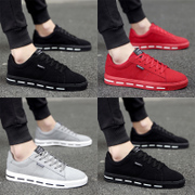 In the spring of 2017 the new trend of Korean men's sports leisure shoes canvas flat shoes all-match student shoes