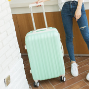 ORAMOMI luggage trolley female universal wheel travel bags Korean password box leather case pull box board