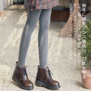 2 Winter plush thickening pantyhose grey foot leggings female middle-thick stockings slim pantyhose autumn and winter