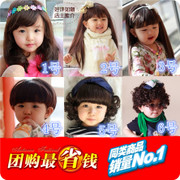 Special offer selling children's photography photography hair wig sets 61 model curly hair straight hair wig girl studio
