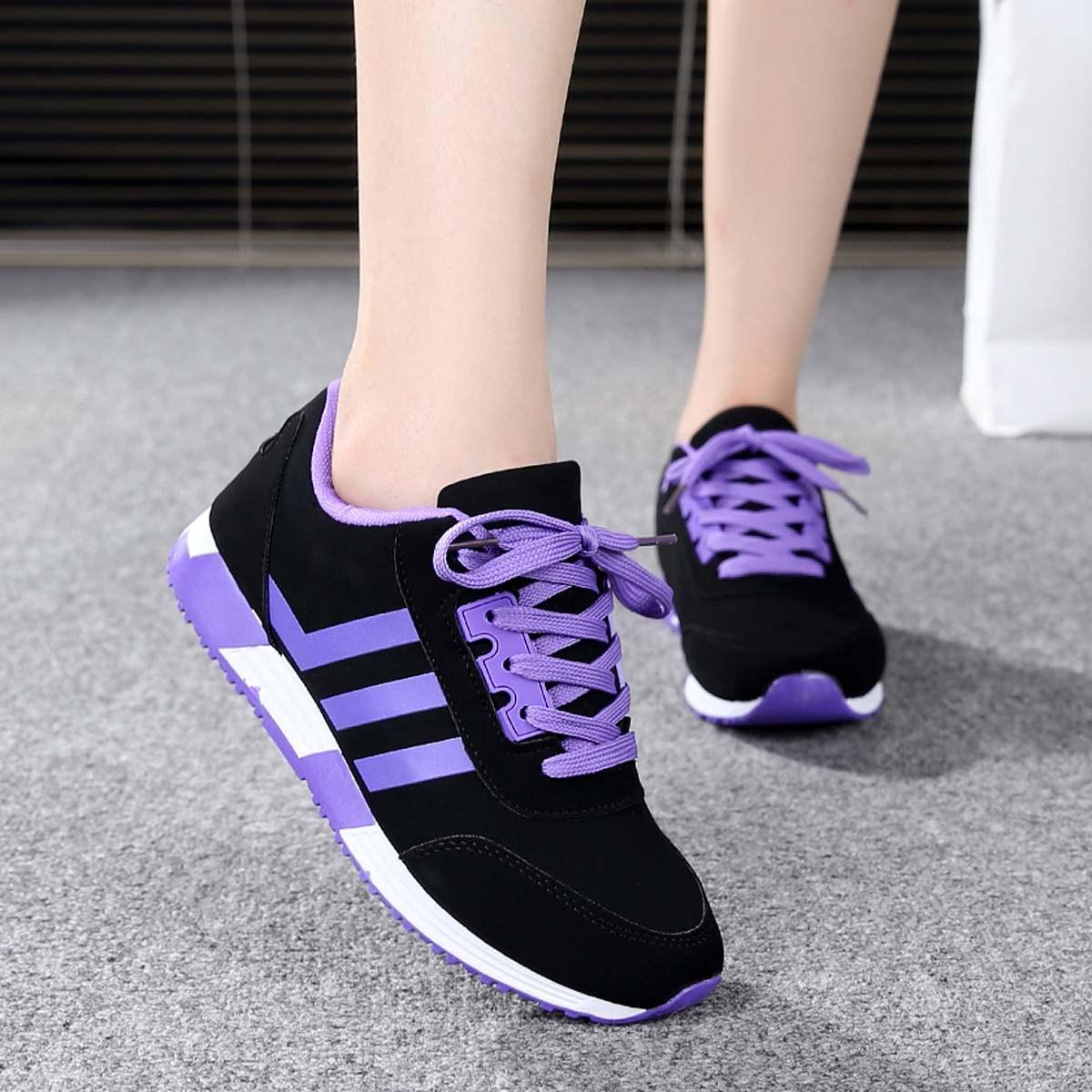 New Korean version of the flat-bottom low spell in spring and summer sports and leisure shoes students tie shoes running shoes sneakers