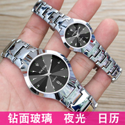 Authentic Korean fashion watch Korean male students are simple and luminous quartz watch lovers watch ultra-thin Watch
