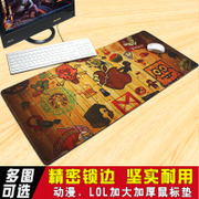Lockrand mouse pad LOL game cartoon cute creative notebook office computer keyboard antiskid mat