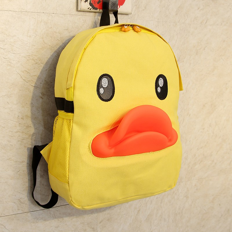 Yellow duck backpack student rhubarb duck bag bag cartoon cute female BaoChao backpack backpack of duck