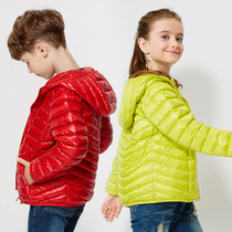 Ducky kids childrens Hooded down jacket boys girls fall winter coats to keep warm in the big boy short feather