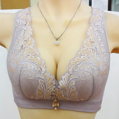 New 6651 thin C cup without steel hoop vest type round adjustment beauty back bra package mail