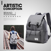 Canvas Backpack backpack. Crown female small fresh all-match trend of Korean leisure contracted student travel bag man