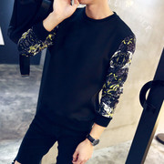 Long Sleeve Shirt Mens Dress sweater T-shirt embroidery Korean men spring autumn clothing coat Shirt Youth tide