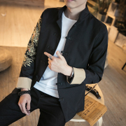 A new spring wind Chinese robes embroidered jackets, costume code retro male Collar Jacket Mens tide